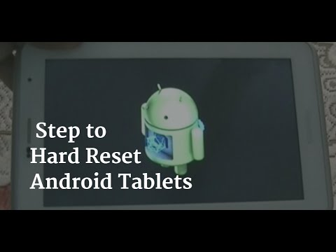 Android Tablet Hard Reset Methods