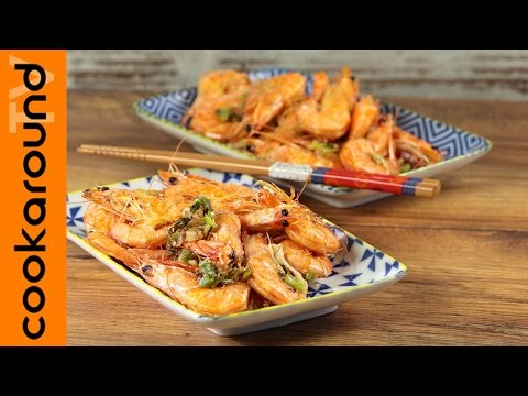 gamberi al sale e pepe alla cantonese - ricetta