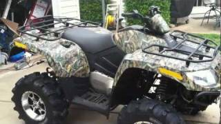 9. 2008 Arctic Cat 650 H1 4x4 Four Wheeler with 3000 lb Winch