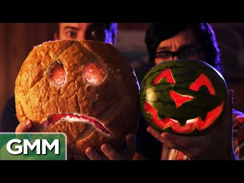 will - Can we make a Jack-O'-Lantern out of a watermelon? GMM #559! Good Mythical MORE: http://youtu.be/P_aDC8zG2wA For a free trial of Lynda.com go to - http://lynda.com/rhettandlink Check out...