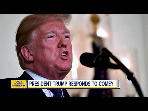 President Trump responds to James Comey's interview