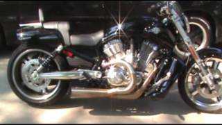 9. Harley Davidson 2009 V-Rod Muscle Vance & Hines Racing Exhaust!