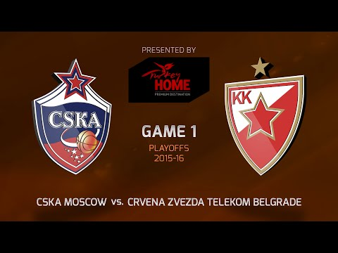 Highlights: Playoffs Game 1, CSKA Moscow 84-74 Crvena Zvezda Telekom Belgrade