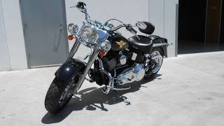 9. 2005 Harley Davidson FLSTF/FLSTFI Fat Boy  50th Anniversary Bike, 1550cc SUPER CLEAN