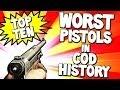 """Top 10 """"WORST PISTOLS"""" in COD HISTORY  (Top Ten - Top 10) Call of Duty"""