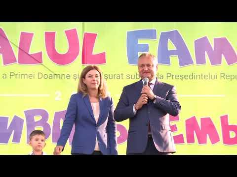 Șeful statului a participat astăzi la Festivalul Familiei