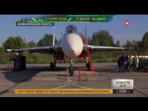 Су 27 в небе над Балтикой показали, как оторваться от противника (видео)