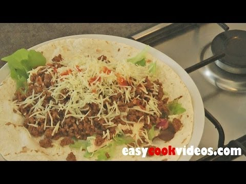 5 Minute Meals – Easy Ground Beef Recipes – Spicy Beef Wrap