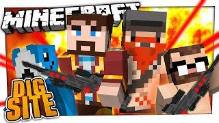 FIGHTING THE ROBOT OVERLORD   Minecraft Dig Site #12