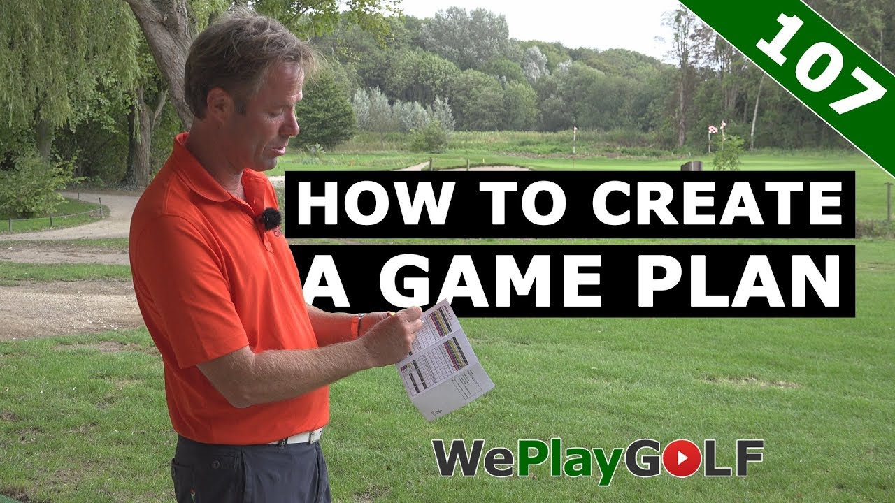Improve your game of golf: create a GAME PLAN on the driving range
