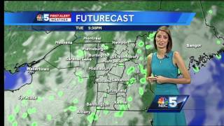 Just a few showers leftover, but still coolSubscribe to WPTZ on YouTube now for more: http://bit.ly/1e9vG0jGet more Burlington/Plattsburgh news: http://wptz.comLike us: http://facebook.com/5WPTZFollow us: http://twitter.com/WPTZGoogle+: https://plus.google.com/+WPTZ