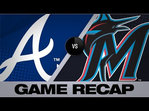 Video: Anderson's 2 home runs fuel Marlins' 9-2 win | Braves-Marlins Game Highlights 8/8/19