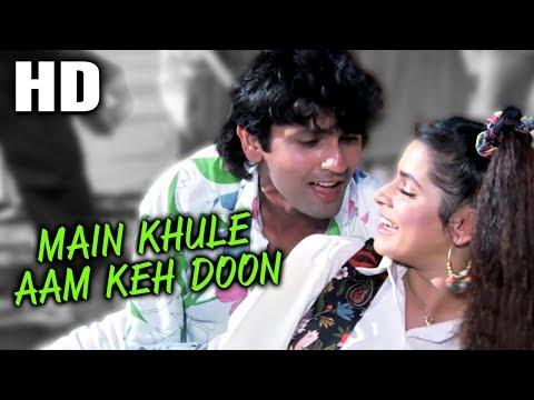 Main Khule Aam Keh Doon   Amit Kumar, Asha Bhosle   Indrajeet 1991 Songs   Kumar Gaurav, Neelam