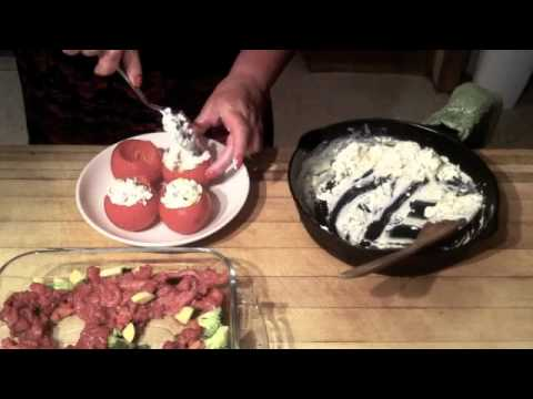 Roasted Stuffed Tomatoes and Beef