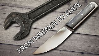 Video Making a Knife From An Old Wrench MP3, 3GP, MP4, WEBM, AVI, FLV Maret 2019