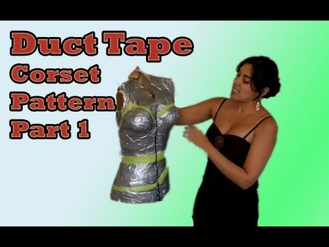 Custom Corset Pattern using Duct Tape
