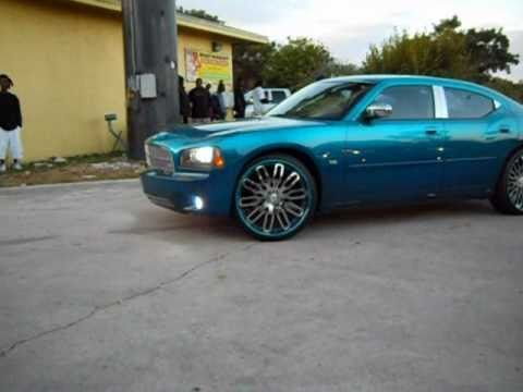 Candy Teal Dodge Charger on 24