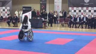 Показательные выступления на XI- турнире по каратэ  на кубок « АЛЬФА» Калинина Вероника(Ката-Джион)