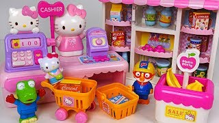 Video Shopping at Hello Kitty Convenience Store with Pororo! Baby doll Market Casher toys #PinkyPopTOY MP3, 3GP, MP4, WEBM, AVI, FLV Juni 2019