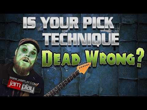 wrong - Most guitar players have DEAD WRONG picking technique. This video shows you how to correct yours. Learn more: http://bit.ly/1s3vq6U What's the fastest way to get faster on guitar? Watch this...