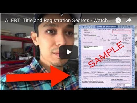 ALERT: Title and Registration Secrets - Watch This Video Before You Register Your Flipper Car