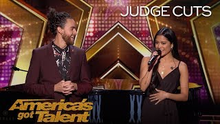 Us The Duo: Married Couple Reveals Pregnancy Announcement On Stage - America's Got Talent 2018