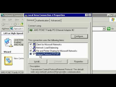 Trouble Shooting Windows 2003 Server TCP/IP network connection