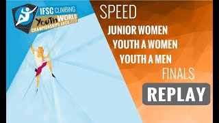 IFSC Youth World Championships - Arco 2019 -SPEED- Finals -Junior Women -Youth A Women -Youth A Men by International Federation of Sport Climbing