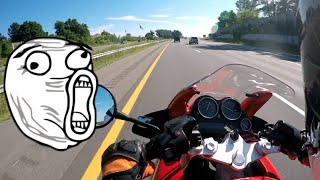 4. First time on a BMW K1200 RS!!
