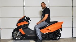 9. Custom Honda Reflex: Riding my scooter to Hooters