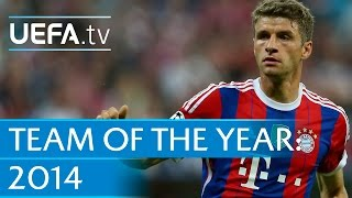 Watch Thomas Müller in action. The Bayern and Germany star is one of 40 nominees for the UEFA.com users' Team of the Year 2014. Subscribe: http://www.youtube...