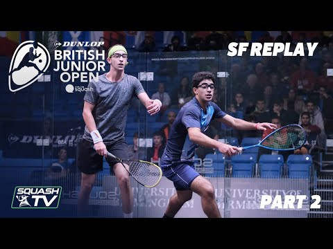 Squash: Dunlop British Junior Open 2020 - Semi Finals - Glass Court Session 2