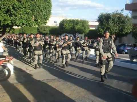 Desfile de 7 de Setembro de 2012 da Polícia Militar de Itaporanga PB. Parte 1