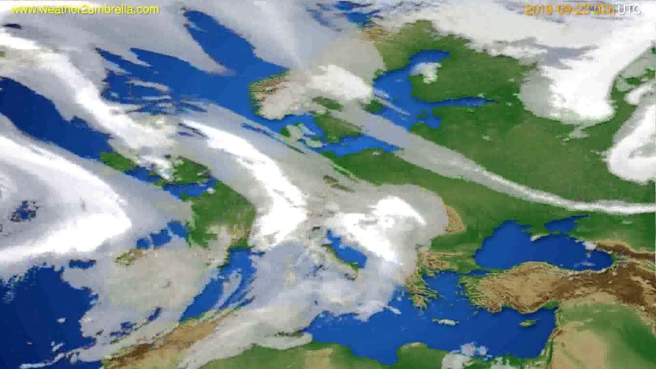 Cloud forecast Europe // modelrun: 00h UTC 2019-09-21