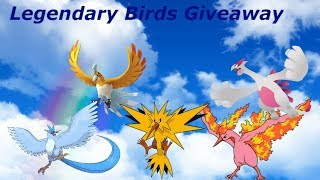 🔴Pokemon 🌟Shiny🌟 Legendary Birds Giveaway