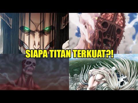15 Titan Terkuat Pada Anime Attack on Titan..!! Inilah Urutan Kekuatannya.!!
