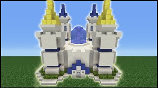 Minecraft Tutorial: How To Make A Disney Themed Castle Part 1/2