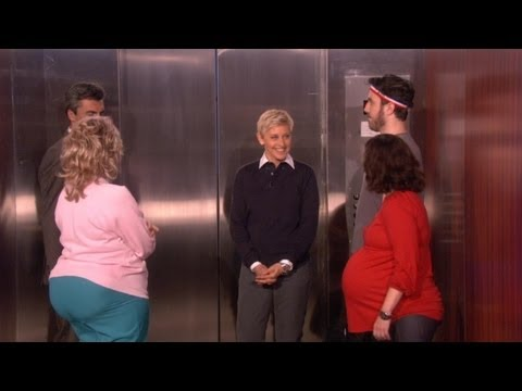 TheEllenShow - Ellen decided to find out exactly how she would react if she were ever to be stuck in an elevator, by getting stuck in an elevator.