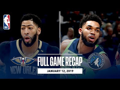 Video: Full Game Recap: Pelicans vs Timberwolves | Karl-Anthony Towns Grabs Career-High 27 Rebounds