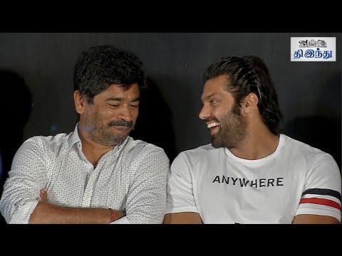 Fun-moments-in-Yaanum-Theeyavan-Audio-Launch-Raju-Sundaram-Arya-Prabhu-Deva-Gaurav