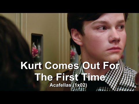 GLEE- Kurt Comes Out To Mercedes | Acafellas [Subtitled] HD (видео)