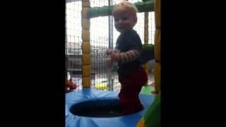 Struan's first attempt at a trampoline
