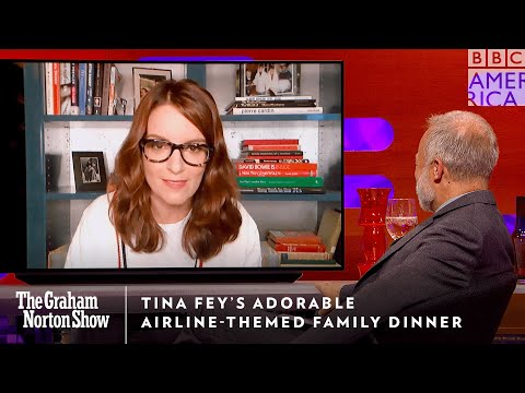 Tina Fey's Sweet Airline-Themed Family Dinner ✈️ The Graham Norton Show | Fri 11/10c | BBC America