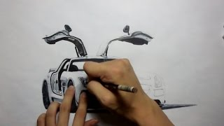 Drawing Mercedes Benz SLS AMG Black Series