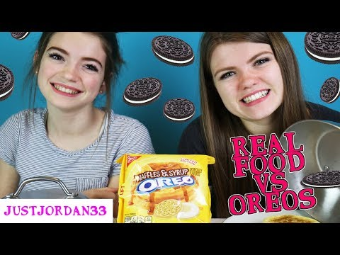 REAL FOOD Vs OREOS Switch Up Challenge! /JustJordan33
