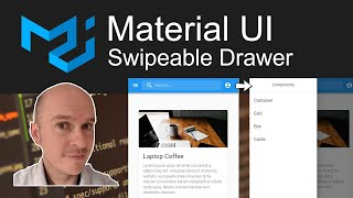 How to create a Swipeable Drawer in Material UI