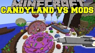 PIGZILLA MOD VS CANDYLAND - Minecraft Mods Vs Maps (Pig Meteor&Missles)