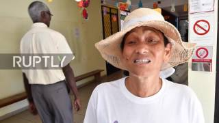 Cayenne residents flocked to the polling stations on Saturday, as citizens from France's oversea territories and French citizens living abroad cast their vot...