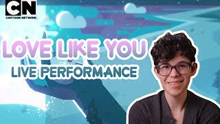 """Check out this exclusive version of """"Love Like You"""" performed live with Rebecca Sugar and composers, Aivi & Surasshu.Download the Steven Universe Soundtrack TODAY (just check out the links below!) - also available to stream on all major music streaming platforms.iTunes: http://apple.co/2smZnUuGoogle Play: http://bit.ly/2rZNYMMAmazon: http://amzn.to/2rF5FRkCN GAMES: http://bit.ly/CNGamesSUBSCRIBE: http://bit.ly/109Y6wq WATCH MORE: http://bit.ly/1RBYuNiAbout Cartoon Network:Welcome to the Cartoon Network YouTube Channel, the destination for all of your favorite cartoons and videos. Watch clips from shows like Teen Titans Go!, Steven Universe, Clarence, Adventure Time, Uncle Grandpa, The Amazing World of Gumball and more! Connect with Cartoon Network Online:Visit Cartoon Network WEBSITE: http://bit.ly/90omi9 Like Cartoon Network on FACEBOOK: http://on.fb.me/SULxhQFollow Cartoon Network on TWITTER: http://bit.ly/XqeBXf Follow Cartoon network on TUMBLR: http://bit.ly/1B3nUQFSteven Universe  Rebecca Performs """"Love Like You"""" ft. Aivi & Surasshu  Cartoon Networkhttps://youtu.be/7_ej9JYZJf0"""
