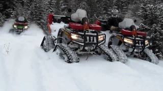 6. 2012 ARTIC CAT MUD PRO 1000  AND 2011 ARTIC CAT THUNDER CAT 1000 QUAD ON TRACKS